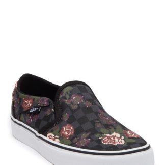 Asker Floral Checkerboard Slip-On Sneaker