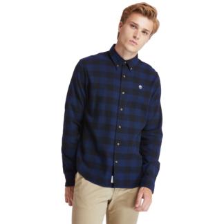 Men's Mascoma River Check Slim Fit Shirt Navy