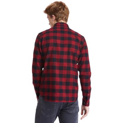 Men's Mascoma River Check Slim Fit Shirt Red