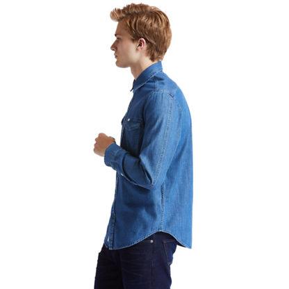 MUMFORD RIVER DENIM SHIRT FOR MEN IN BLUE
