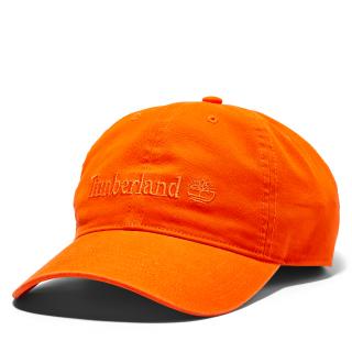 COTTON CANVAS BASEBALL CAP ORANGE