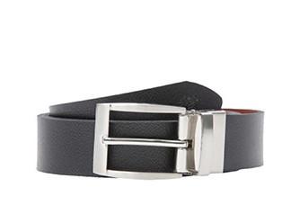 Reversible leather belt BLACK