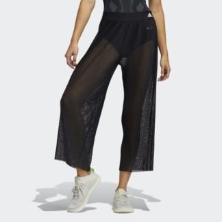 Pleated Mesh Dance Pants Black GL  model