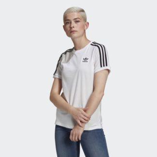 T shirt Adicolor Classics  Stripes Blanc GN  model