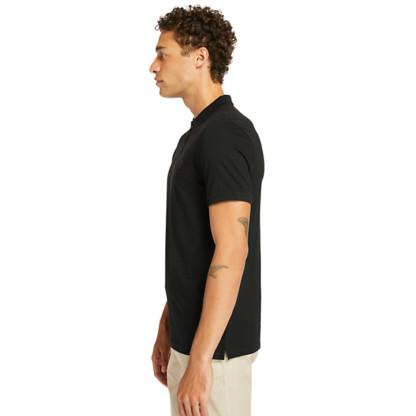 COCHECO RIVER SUPIMA® COTTON POLO SHIRT FOR MEN IN BLACK