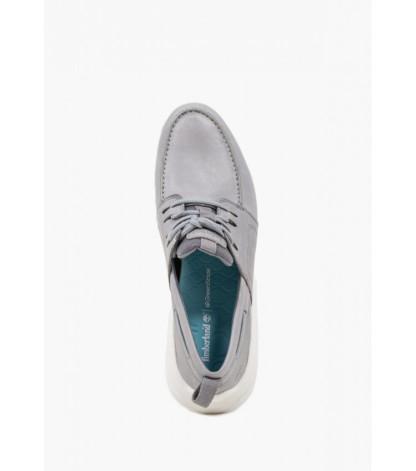 Gray Leather Nubuck