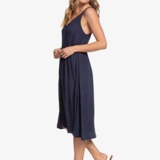 Sunset Beauty - Strappy Buttoned Midi Dress